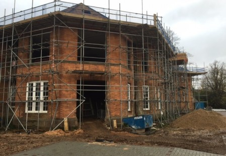 NJS Scaffolding and Brickwork for Linden Homes, Graylingwell, Chichester