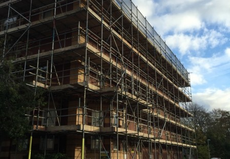 NJS Scaffolding for Linden Homes in Graylingwell, Chichester