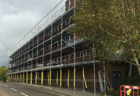 NJS Scaffolding for PMC Construction in Horsham