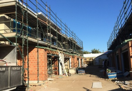 NJS Australia Scaffolding for Polo Construction, Scarborough, Queensland